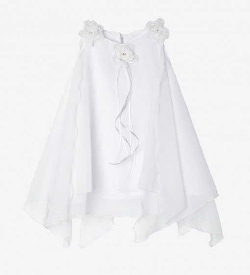Girl's Gown in White Muslin