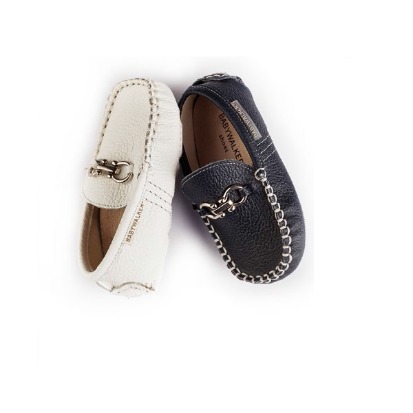 Napa Leather Loafer with Buckles